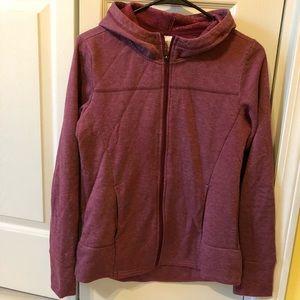 Sweaters - burgundy/maroon zip-up